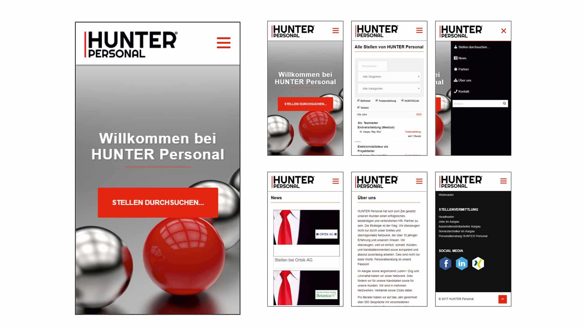 Mobile Page HUNTER